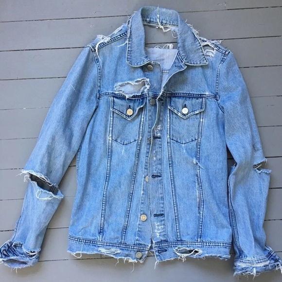 77c5923e502 Acne Jackets   Blazers - Acne Studios Fever Trash Distressed Denim Jacket